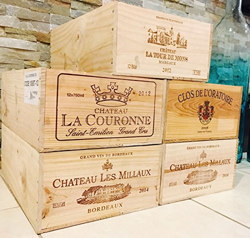 10 Wine crate French Original Twelve count Bottles Wine WOOD BOX by Mix brands