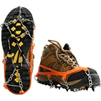 Cosyzone Ice Snow Shoes Grips Traction Cleats Grippers Crampons for Outdoor Walking Hiking Camping Mountaineering Climbing Hunting