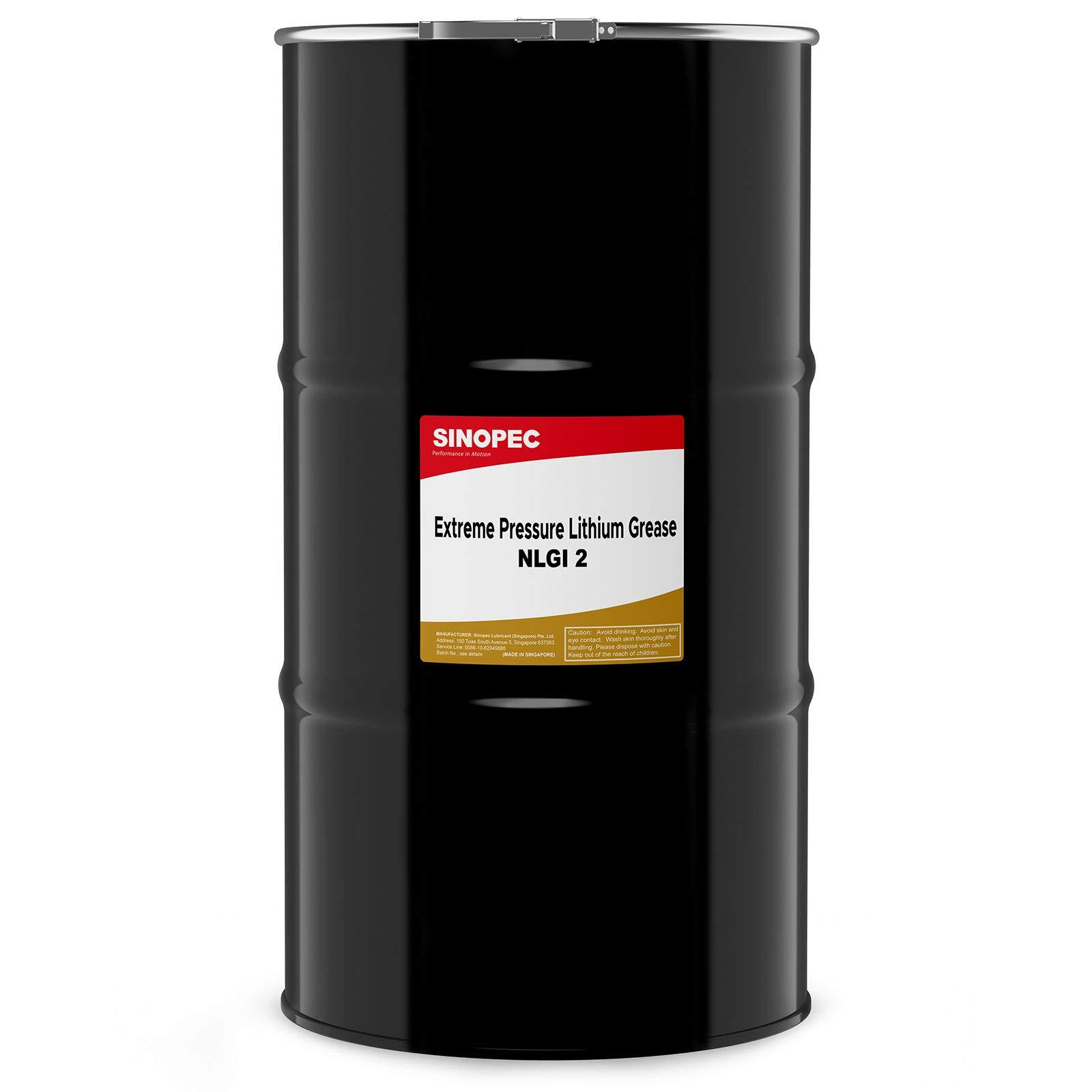 Sinopec (EP2) Extreme Pressure Multipurpose Lithium Grease, NLGI 2-120LB. (16 Gallon) Keg