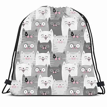 Drawstring Backpack String Bag 14x16 Pink Happy Kids Funny ...