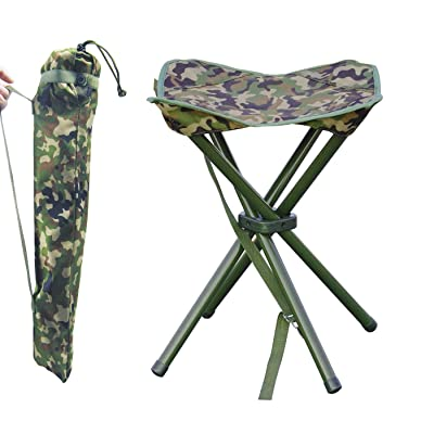 JSHANMEI Portable Folding Stool Outdoor Square Slack Chair Lightweight Heavy Duty for Camping Mountaineering Hiking Travel House-Using Recreation : Sports & Outdoors