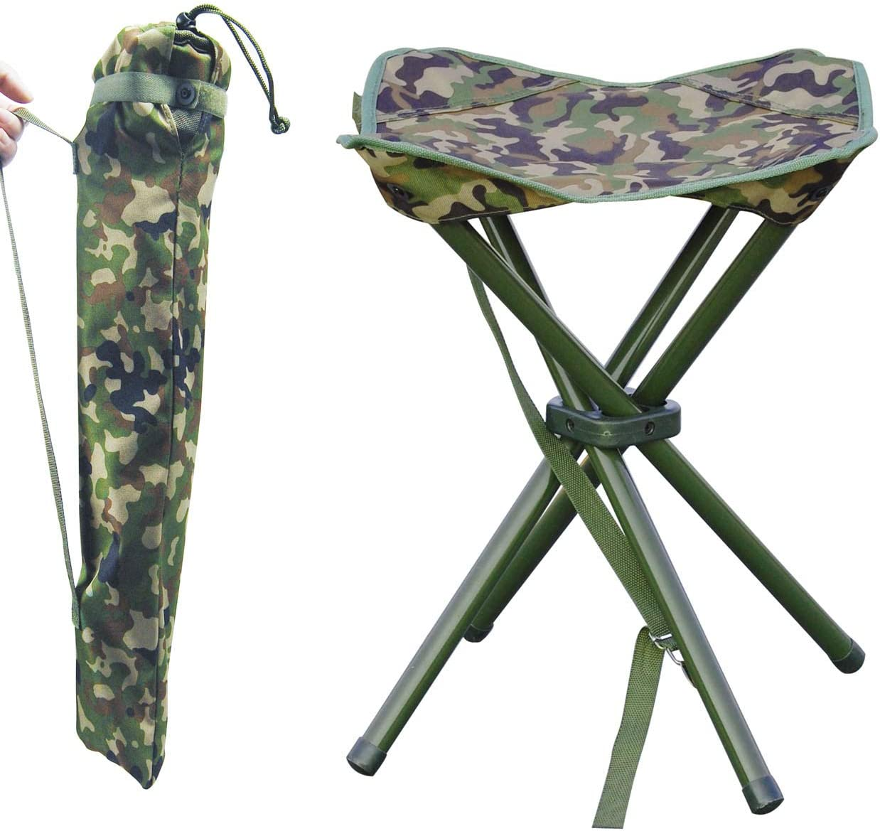 AGOOL Outdoor Stool Portable Folding Stool Slack Chair Lightweight Stool Heavy Duty for Camping Mountaineering Hiking Travel House-Using Recreation