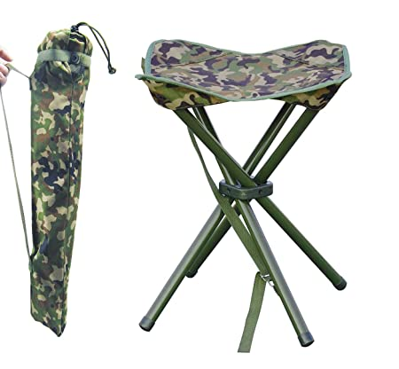 JSHANMEI Outdoor Folding Stool Slacker Chair, Lightweight Foot Rest Seat, for Camping Fishing Hiking Mountaineering Travel Outdoor Recreation with Carrying Bag