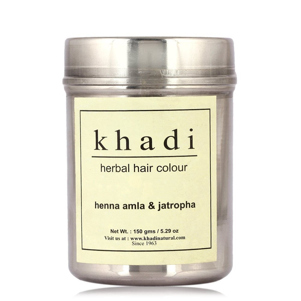 KHADI - Herbal Hair Colour Henna Amla & Jatropha - 150g (Pack of 3) Free Expedited Shipping!