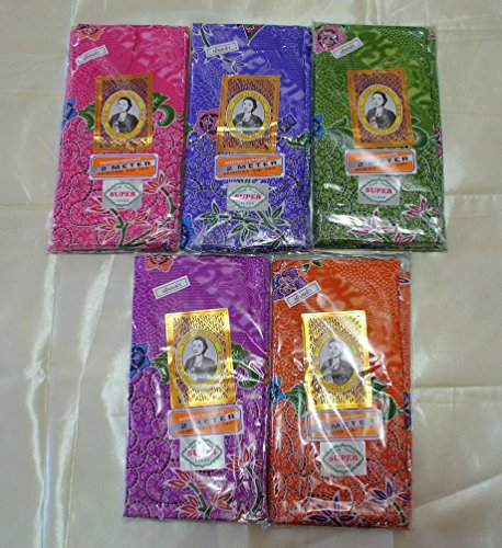 Lot of 5 BATIK PUTRI RANI INDONESIA STYLE COTTON LAOS SINH SARONG READY TO WEAR