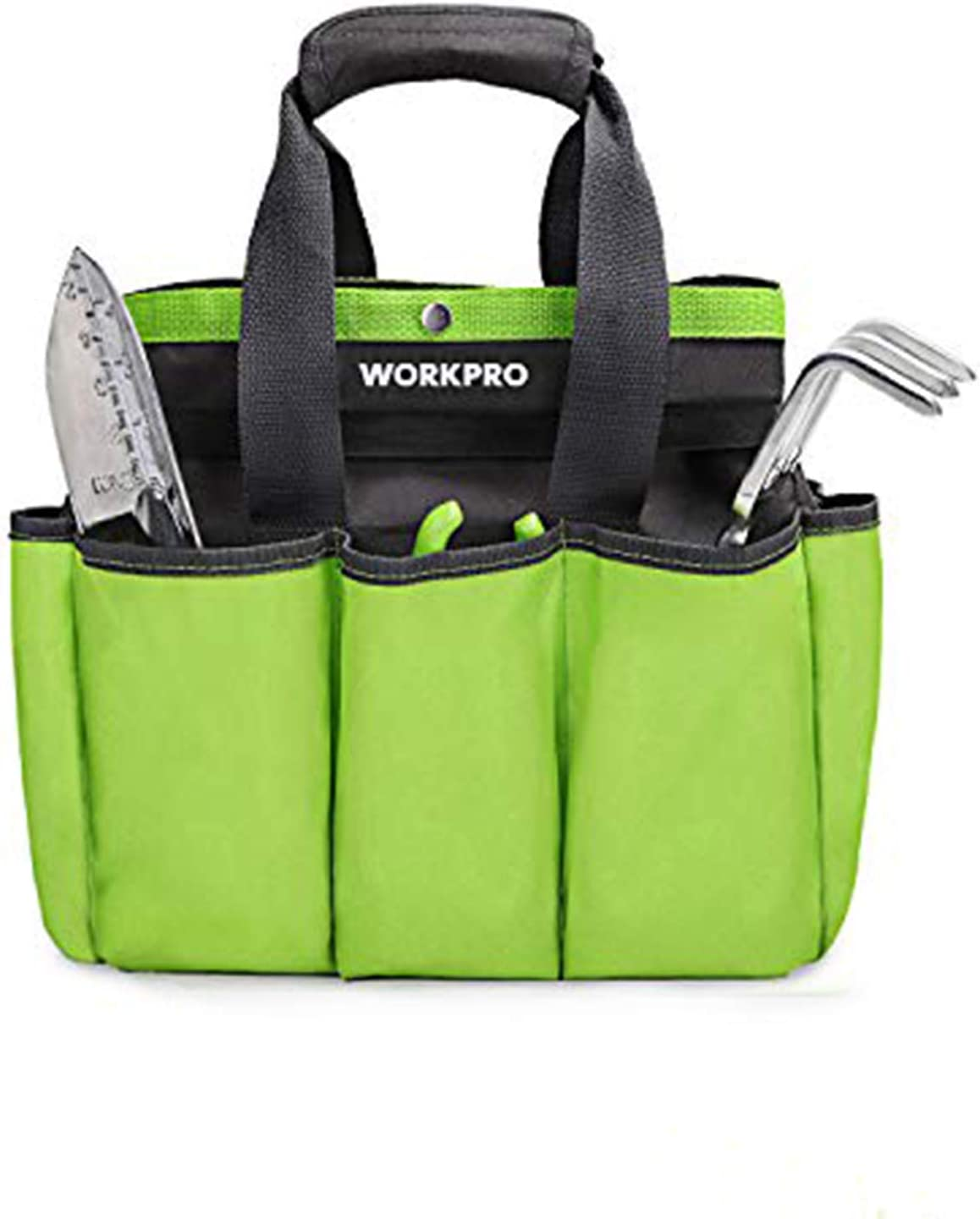 "WORKPRO Garden Tool Bag, Garden Tote Bag with 8 Oxford Pockets for Indoor and Outdoor Gardening, Garden Tools Set, 12""x 12"" x 6"" (Tools NOT Included)"