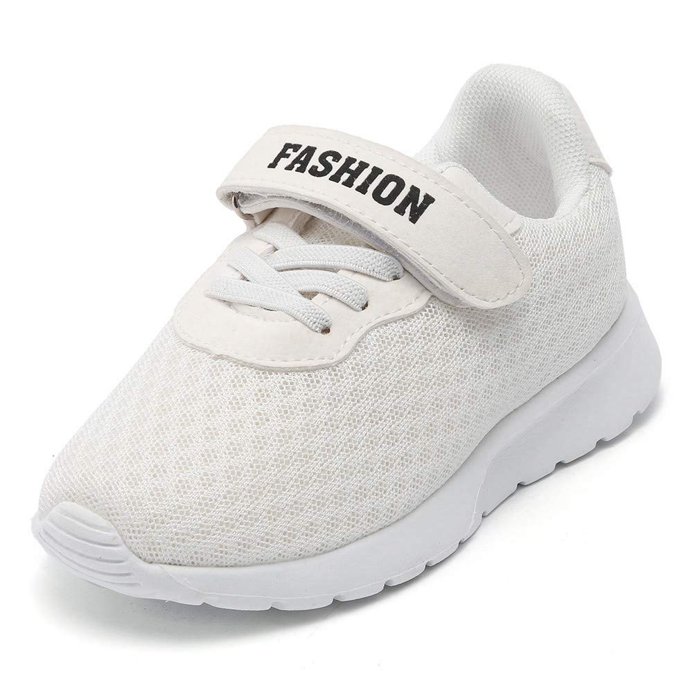 Londony▼ Toddler Kids Unisex Simple Design White Sneaker Running Shoes Athletic Work and Safety