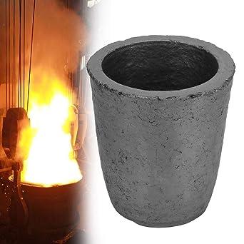 Grafito Crucible, 6 kg Silicona Grafito Crucibles Forma de taza ...