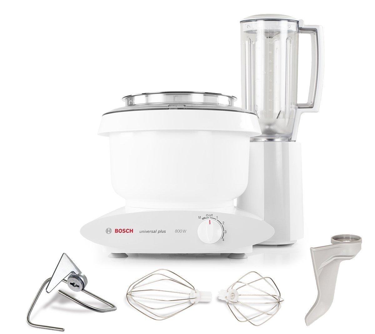 Bosch MUM6N11UC Universal Plus Stand Mixer, 800 Watt, 6.5-Quarts with 6 Cup Blender