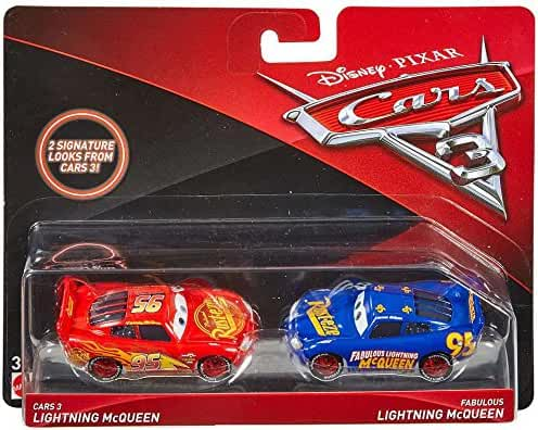 Disney/Pixar Cars 3 Lightning McQueen and Fabulous Lightning McQueen Die-Cast Vehicles