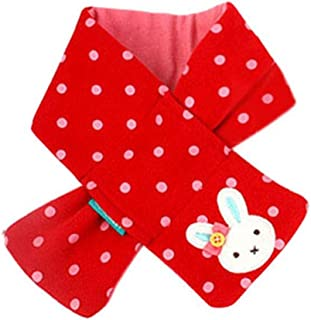 Koly Girls Baby Kids Winter Scarf Warm Shawl Rabbit Style Neck Warmer (Red)
