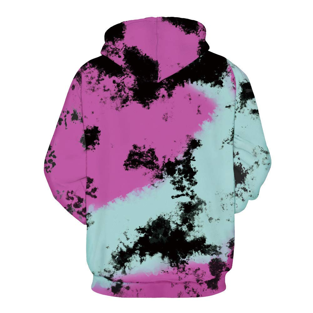 Amazon.com : CHAOHAO@ Ladies Hooded Hooded Sweater 3D Unicorn Digital Printing Baseball Uniform Halloween Hooded Sweater Large Size Lovers : Sports & ...