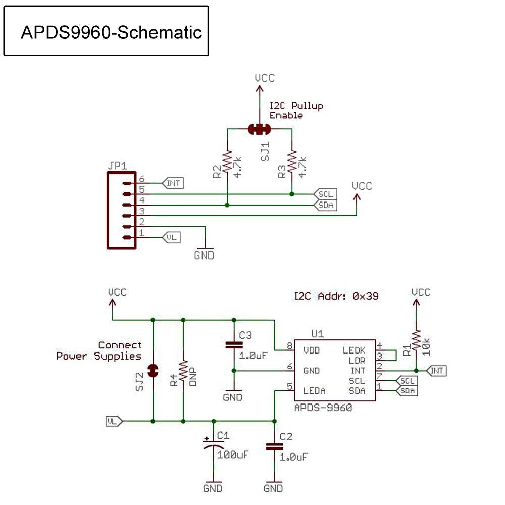 Makerhawk 5pcs Sensor infrarrojo de Gestos Infrarrojos, GY-9960-3.3 APDS-9960 Módulo de Sensor de luz Ambiental para reconocimiento de dirección de ...