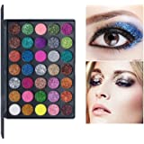 VERONNI Pro 35 Color Glitter Shimmer Eyeshadow Makeup Palette Pigment Stage Eye Shadow Palette (35 Glitter)