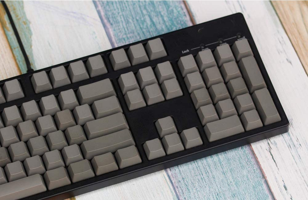 ,Blue No Engraved Keyboard Blue, Green, Dark Gray, White, Powder 104-Key Mechanical Keyboard Keycap SSSLG PBT Keycap OEM Height