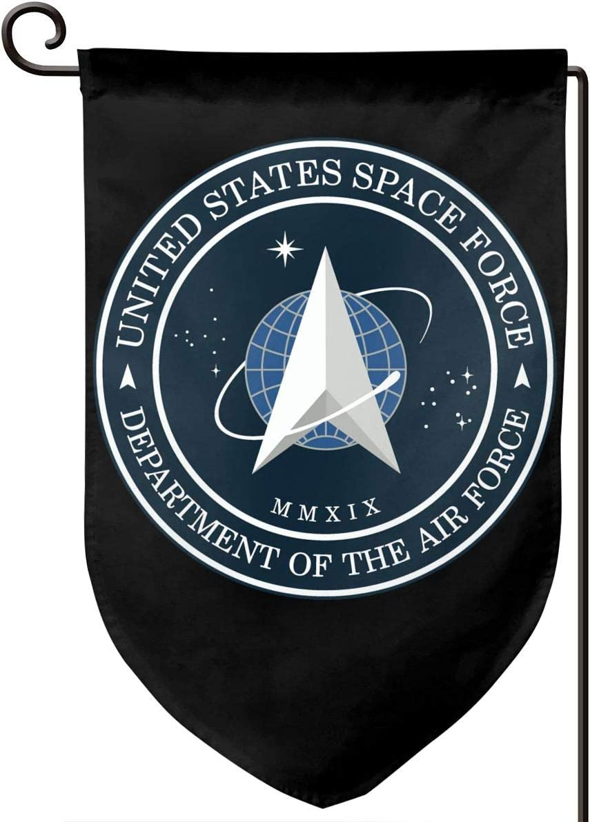 Juhucc United States Space Force Garden Flag,Lndoors Outdoors American Flag Banner Home Flag 12.5x18in