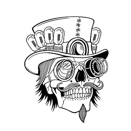 Amazon Com Fangeplus R Diy Removable Sugar Skull Head With Hat