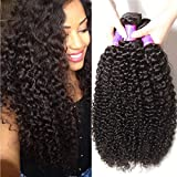 ALI JULIA Wholesale 3-Pack Malaysian Virgin Curly Hair Weave Real Human Hair Weft Extensions Cheap Bundle Hair Products Natural Color 95-100g/pc (14 16 18 inches)