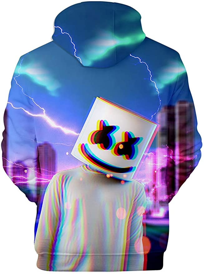 Amazon.com: EmilyLe Marshmello 3D Print Unisex Hoodie Women Fashion Hoodie Special Sweatshirt: Clothing