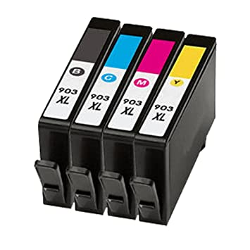 caidi 4 cartuchos de tinta compatibles para HP OfficeJet 6950, Pro ...