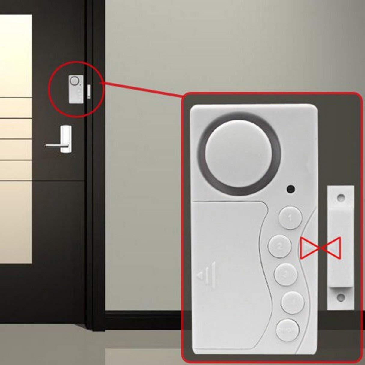 Sensor magnético de plástico Sistema de alarma inalámbrico Puerta Ventana Movimiento Entrada antirrobo Seguridad Inicio Guardia Promoción: Amazon.es: ...