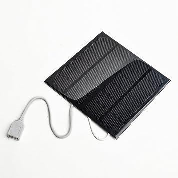 Cargador Solar, 6v 3w 580-600MA Panel Solar USB Cargador de ...