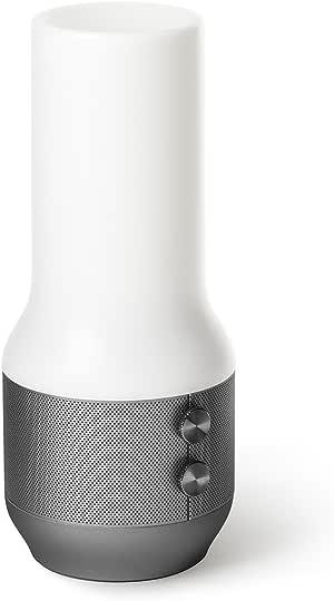 Lexon Terrace - 3-in-1 LED Light, Bluetooth Speaker, Rechargeable Power Bank - Matte Gunmetal
