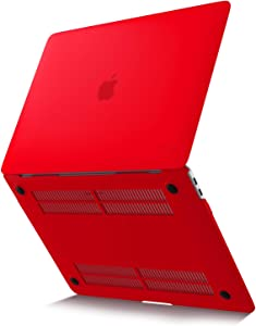 Kuzy MacBook Air 13 inch Case 2020 2019 2018 Release A2179 A1932 Soft Touch Newest Version Hard Shell Cover for 13 inch MacBook Air Case with Retina Display, MacBook Air 2020 Case, Hot Red
