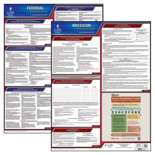 - Missouri & Federal Labor Law Posters - State & Federal Poster Set (English)