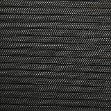 CAMPSNAIL 550 Paracord Lanyard Parachute Cord - Type III 7 Strand 100% Nylon Rope (Black, 200ft)
