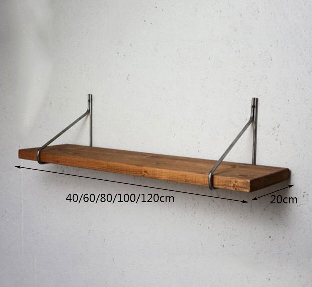 FGSGJ Kreative Retro Wandregale Massivholzregale Massivholzregale Massivholzregale Wohnzimmer Wände Wand Lagerregal (größe : 60  20cm) d85e73