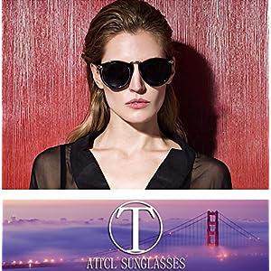 ATTCL Vintage Fashion Round Arrow Style Wayfarer Polarized Sunglasses for Women 11189 Floral
