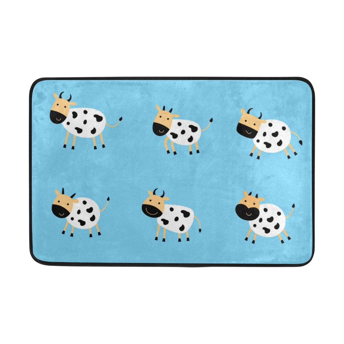 Leche vaca Cartoon azul alfombra moqueta animal print