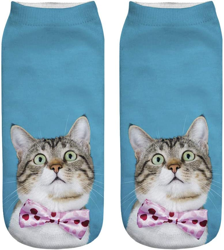 BPOF99 Popular Funny Unisex Short Socks 3D Cat Printed Anklet Socks Casual Socks Christmas Socks Fashion 2019