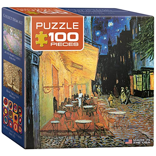 EuroGraphics Cafe at Night by Vincent Van Gogh Mini Puzzle (100-Piece)