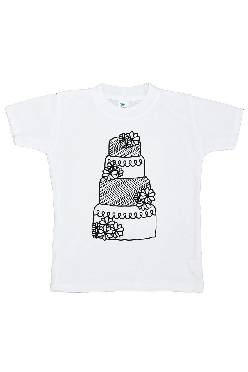 Custom Party Shop Girl's Wedding Cake T-shirt Small
