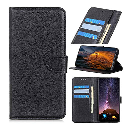 Scheam Leather Case Compatible with Asus ZenFone 5 ZE620KL ZS620KL, Premium Folio Leather Wallet Case with [Kickstand] [Card Slots] [Magnetic Closure] Flip Notebook Cover Black