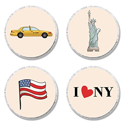 MAGJUCHE New York Candy Stickers NYC I Love By Birthday Party Sticker Labels For