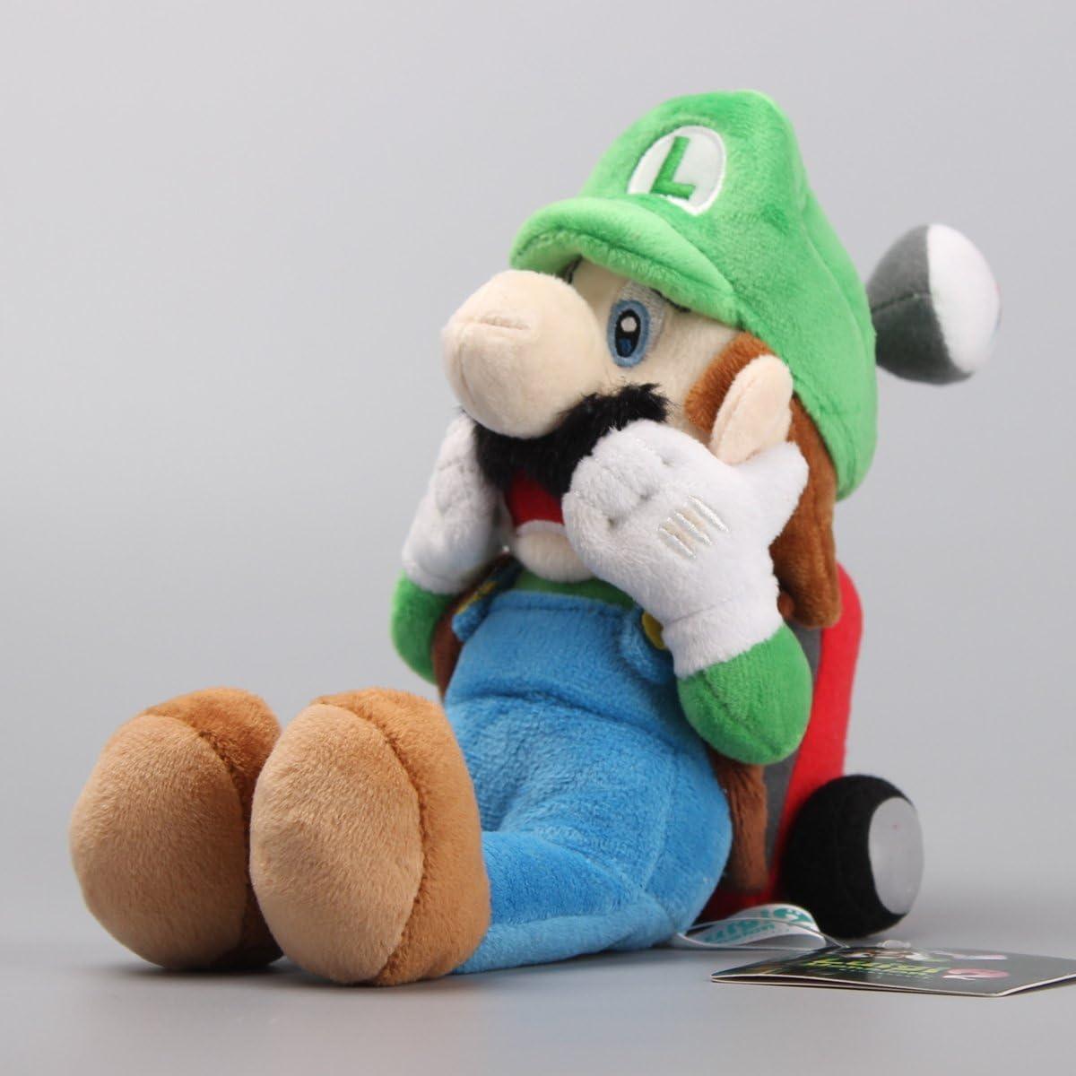 uiuoutoy Super Mario Luigis Mansion Scared Luigi with Strobulb Plush 10