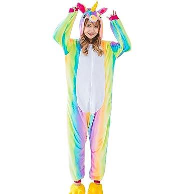 Triseaman Erwachsene Halloween Cosplay Pyjama Einhorn Kostüm Onesie ...
