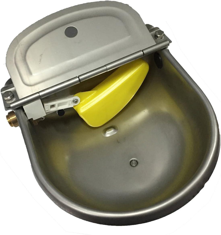Pssopp Caballo Bovino Bebedor Acero Inoxidable Tazón de Agua Recipiente de Agua Tazón Bebida automática para Caballos Cabras Ovejas Ganado