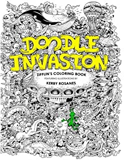 doodle invasion zifflins coloring book volume - Outside The Lines Coloring Book