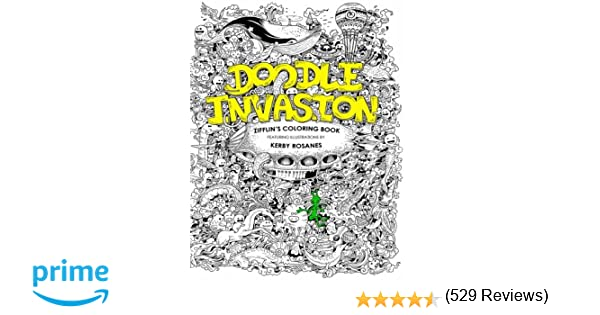 Animorphia Coloring Book Download Amazon Doodle Invasion Zifflins Volume