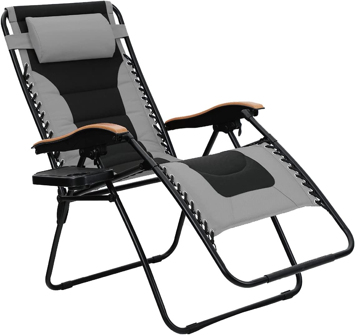PHI VILLA XL Padded Seat Oversized Zero Gravity Chair
