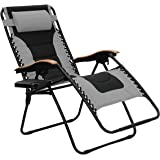 PHI VILLA Oversize XL Padded Zero Gravity Lounge Chair Wider Armrest Adjustable Recliner with Cup Holder, Support 350…