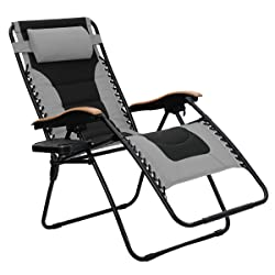 PHI VILLA Oversized Zero Gravity Chair - XL Padded Lounge Chair