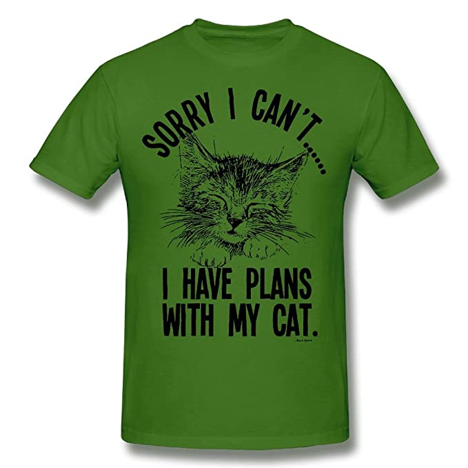 e6c6db53 Sorry I cant..I Have Plans With My Cat Mens & Ladies Unisex Fit ...
