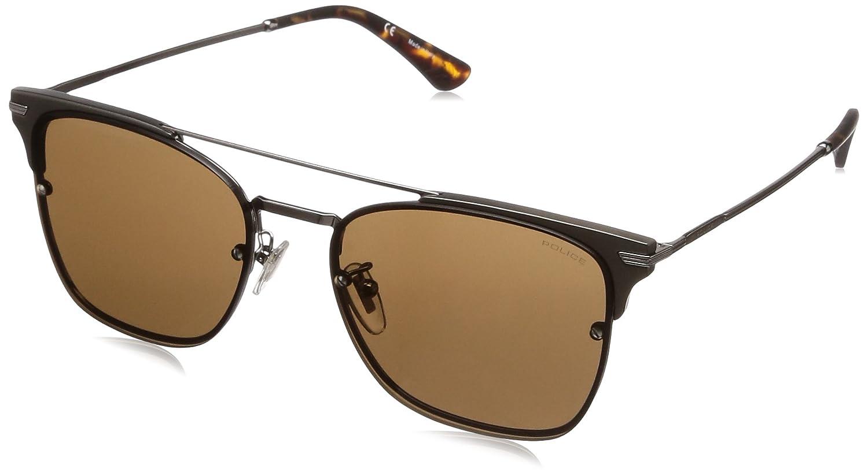 e983bce98 Police Square Sunglasses for Men - Brown Lens, SPL577560568: Amazon.ae