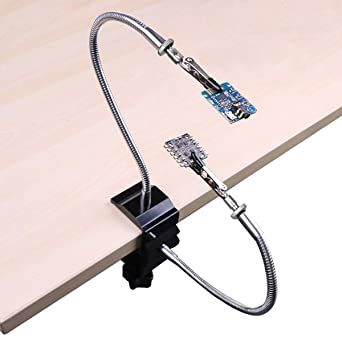 Helping Hands Third Hand Soldering Station Tools Flexible Metal 2 Arms w// Clips