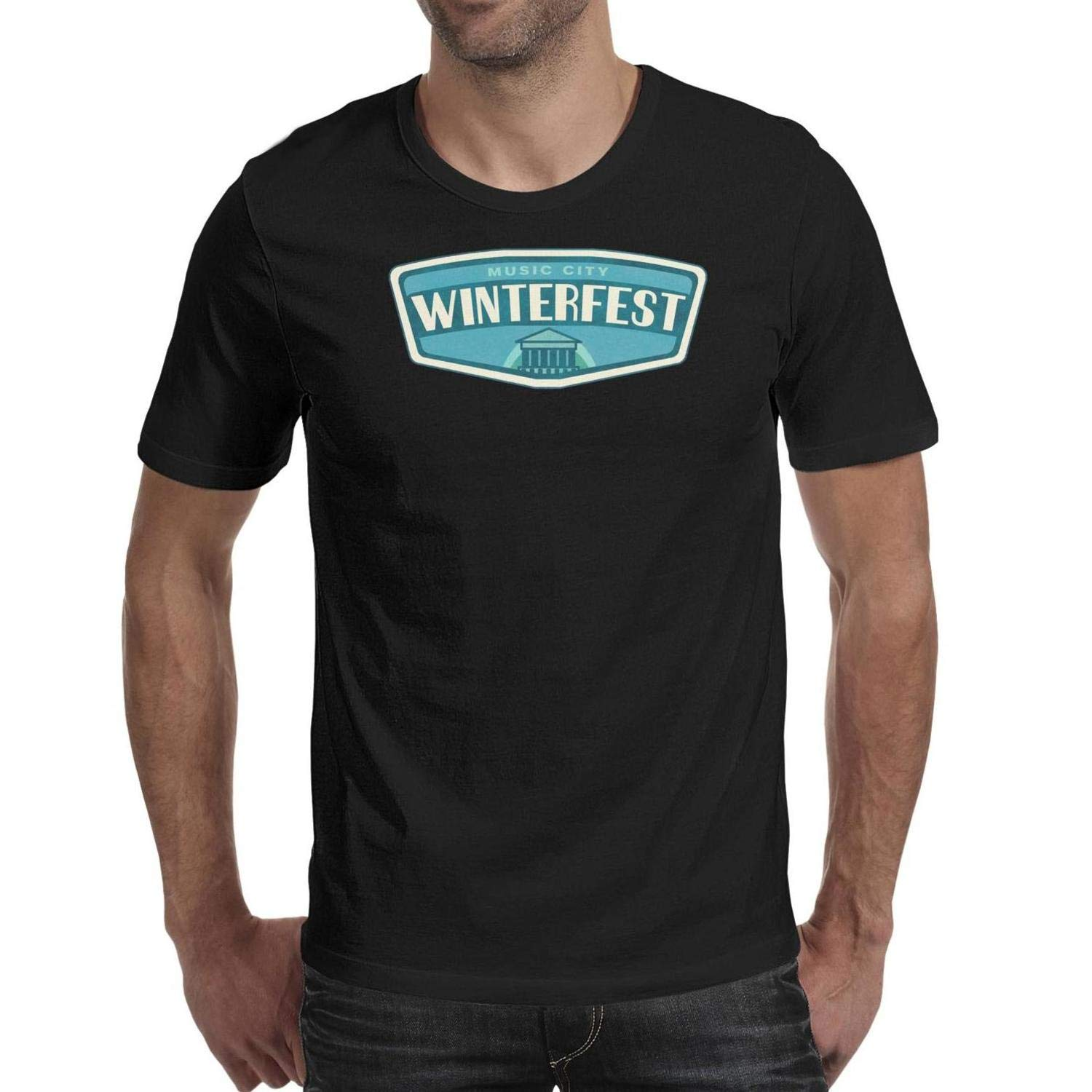 TopCrazy Winterfest t Shirts O-Neck Graphic Perfomance T Shirts for Men